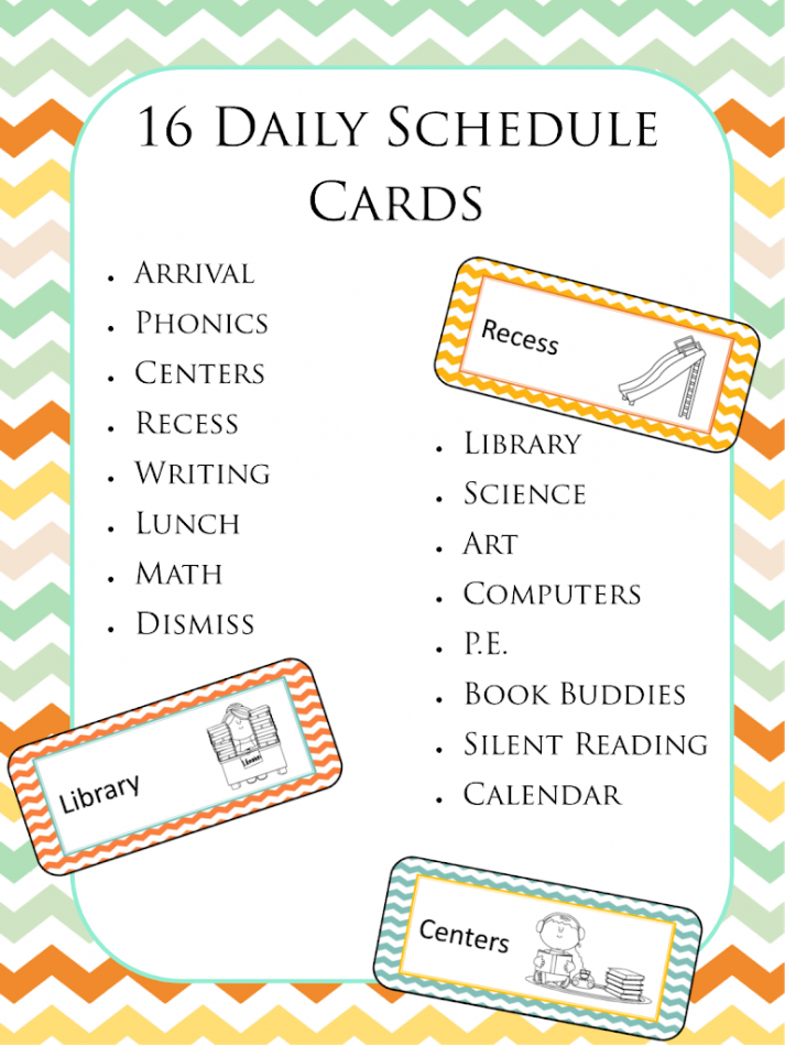 http://www.teacherspayteachers.com/Product/Chevron-Daily-Schedule-Cards-for-the-Board-1422496