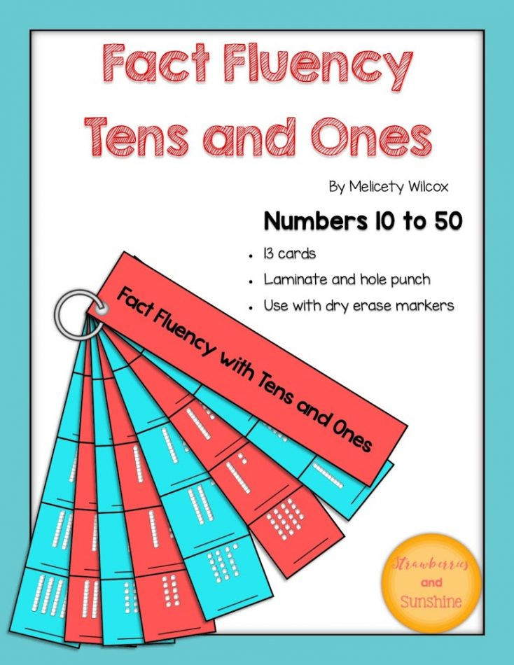 Math Fact Fluency Place Value Tens Ones