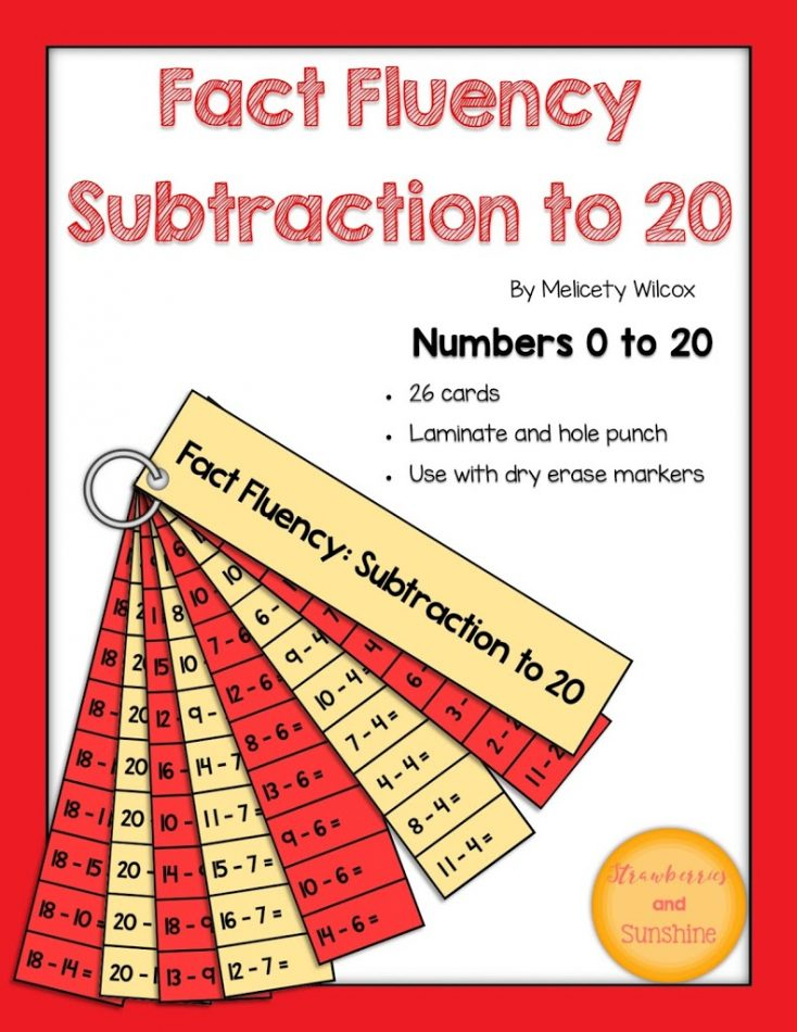 Subtraction Fact Fluency Strips