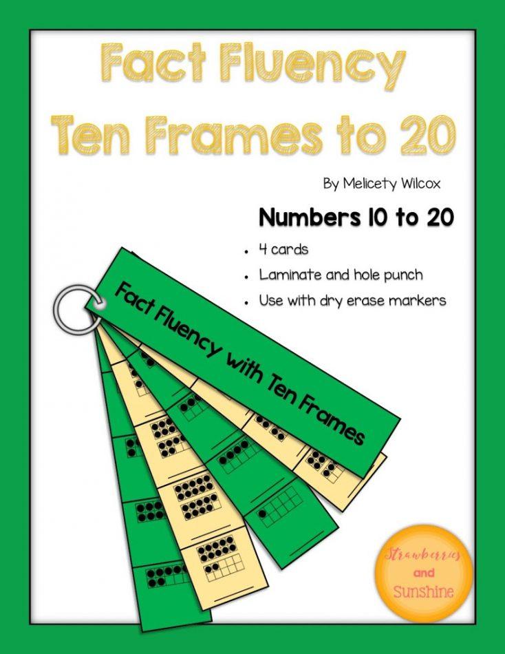 Math Fact Fluency Ten Frames