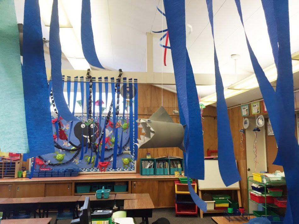 Ocean Theme Open House First Grade Shark Art Project