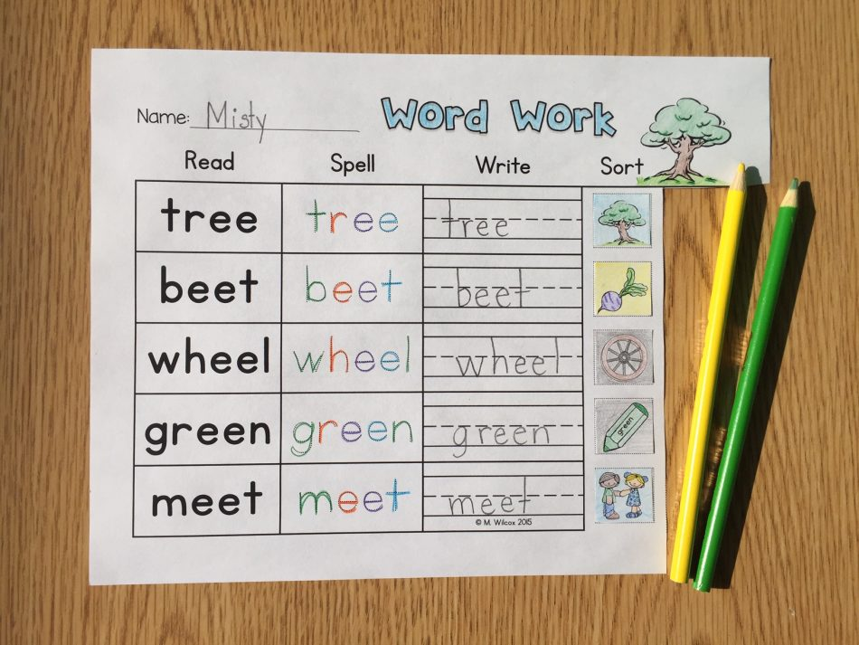 word sorts and picture sorts first grade