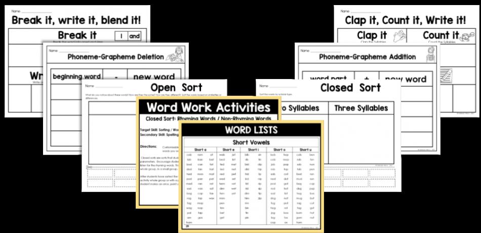 Science of Reading Word Work Activities