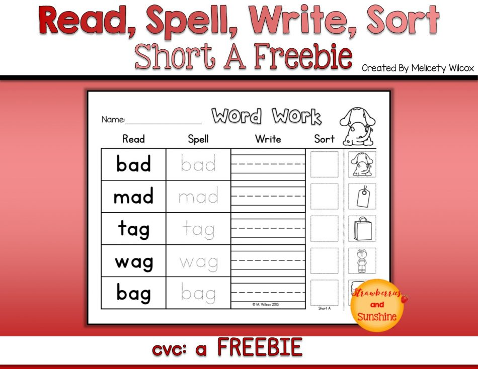 Short Vowel Word Sort Picture Sort