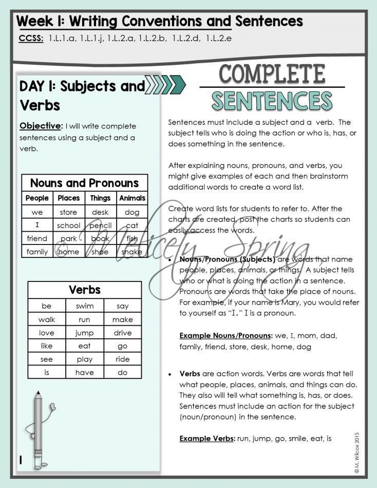 First Grade Writing Curriculum